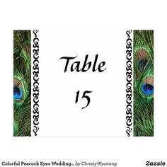 Shop Colorful Peacock Eyes Wedding Table Numbers created by ChristyWyoming. Peacock Wedding Invitations, Feather Photography, Wedding Table Numbers, Postcard Size, Smudging, Paper Texture, Create Your Own, Backdrops, Photo Gifts