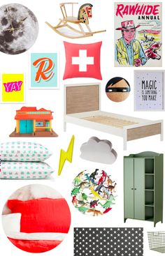 Kids Room Style Board: Eclectic Adventurer
