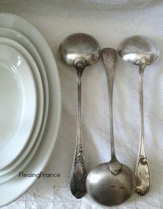 FleaingFrance.....French Ironstone & Silver Ladles