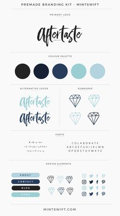 $99 | Aftertaste Premade Branding Kit | MintSwift More