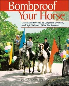 Bombproof Your Horse: Teach Your Horse to Be Confident, Obedient, and Safe, No Matter What You Encounter by Rick Pelicano, http://www.amazon.com/dp/1570762600/ref=cm_sw_r_pi_dp_8kf.pb0ZX4JCQ