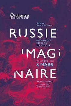 """Affiche """"Russie Imaginaire"""" réalisée par graphéine pour un concert de l'Orchestre de Melun Val-de-Seine"""