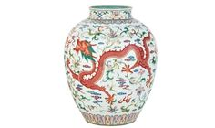 Chinese Imperial Dragon Jar Heads Mossgreen Asian Arts Auction
