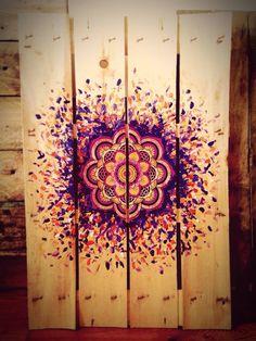 the latest triptych painting mandala art, mandala - mandala art painting Mandala Doodle, Mandala Stencils, Mandala Painting, Mandala Drawing, Mandala Art, Arte Pallet, Pallet Art, Deco Boheme, Pallet Painting