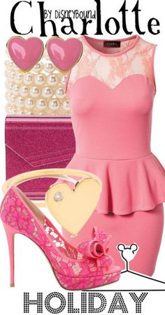 Charlotte from Princess and The Frog inspired disneybound outfit Disney Character Outfits, Disney Princess Outfits, Disney Bound Outfits, Disney Dresses, Princess Fashion, Princess Tiana, Disney Clothes, Disney Princesses, Beautiful Outfits