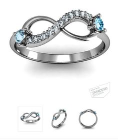 My ring with my birth stone and my daughters in between =) perfect Daughters, To My Daughter, Infinity Rings, Wedding Planning, Wedding Ideas, My Precious, Eat Sleep, Birthstones, Repeat