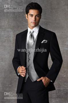 Wholesale Bridegroom Jacket - Buy Groom Tuxedos Best Man Suit Wedding Groomsman Men Suits Bridegroom Jacket+Pants+Tie+Vest Q313, $115.0 | DH...