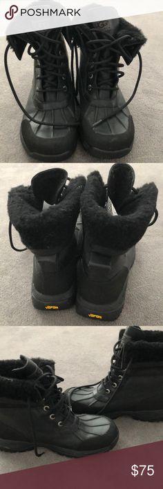 dea39712da9 UGG Black Shearling Boots Black UGG Lace Up Shearling Boot. Men s Boys Size  5
