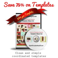 Feeling overwhelmed by the thought of digital scrapbooking a whole album? Digital Scrapbooking HQ has just what you need and it's 75% off!