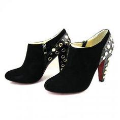 Cheap Christian Louboutin Bling Black Studded Ankle Boots Suede Sale : Christian Louboutin$252.87