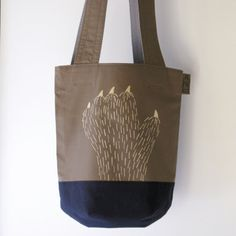 new /cotton tote / hairy creature / scary hand by UTTOKO on Etsy, ¥7500