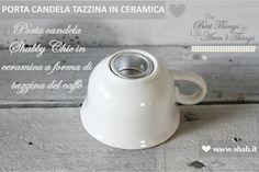 Buongiorno Amiche,  ...Quali sono le vostre abitudini di metà pomeriggio...!?  La vostra merenda prevede THE o CAFFE' ♥ ?    Intanto vi lasciamo con questa bella immagine che mostra come lo Shabby Chic interpreta le tazzine da Caffè ♥    ♥ PARTA CANDELA TAZZINA IN CERAMICA ♥  Disponibile nel negozio online di Shab: http://www.shab.it/it/the-shop/prodotti/porta-candela-tazzina-in-ceramica-20367    Buona Serata a Tutti  Shab | The Best Things in Life Aren't Things  www.shab.it