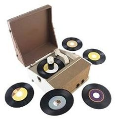 45s replaced 33 1/3. Looks just like the one I had  when I was a kid. Kept playing the same 4-5 records over and over and . . . .