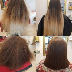 Cand un produs face transformări spectaculoase nu ai nici un motiv sa folosesti altceva. Alege IHAIR KERATIN!  6luni par drept și sănătos. Keratin Complex, Brazilian Blowout, Hair Transformation, Hairdresser, Straight Hairstyles, My Hair, Salons, Hair Color, Long Hair Styles