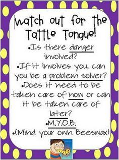 print this sign goes with tattle tongue book