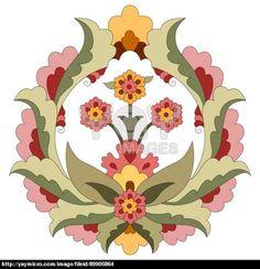 Ottoman art flowers fourteen
