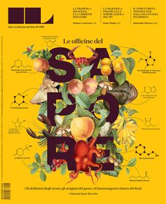 cover of IL issue no. 56 (The Second Annual Food Issue) art directed by Francesco Franchi cover of IL issue no. 56 (The Second Annual Food Issue) art directed by Francesco Franchi Lettering, Typography Prints, Typography Design, Book Design, Design Art, Print Design, Web Design, Print Layout, Layout Design