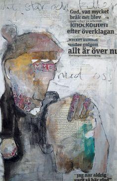 Carola kastman,collage Distortion Art, Ap Studio Art, Collage Art Mixed Media, Mail Art, Figure Painting, Artist Art, Art Studios, Art Techniques, Figurative Art