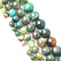 """16"""" Length Natural Gemstone Round Spacer Loose Beads 4mm 6mm 8mm 10mm 12mm Pick 