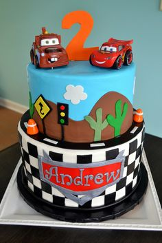 Image result for lightning mcqueen and tow mater cakes