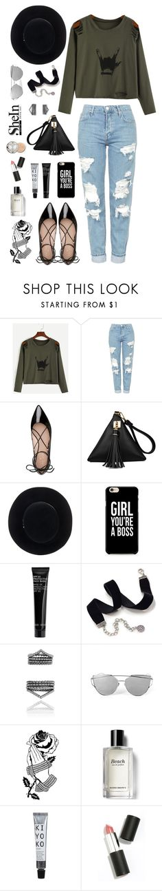 """Figures..."" by northernstylist on Polyvore featuring Topshop, Kate Spade, Eugenia Kim, Bobbi Brown Cosmetics, Sweet Romance, Deandri, Sigma Beauty and Christian Dior"