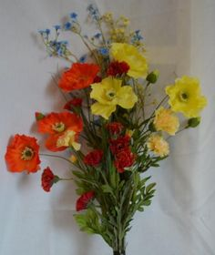 wildflower bouquet, delicate and exquisite artificial silk ...