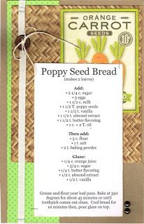 Poppy Seed Bread ( your Moms' and Grandmother's recipes!)