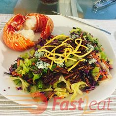 Blue Cheese Vinaigrette, Blue Cheese Salad, Outback Steakhouse, Outback Salad, Candied Pecans, Shredded Carrot, Recipe Please, Chopped Salad, Red Cabbage