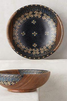 Anthropologie Batik Serving Bowl