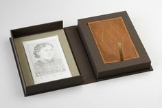 Books checked out by Louisa May Alcott in 1871 // Full cloth clamshell created for Laura Davidson - Herringbone Bindery