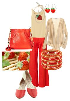 Outfit inspired by strawberries. Want to see more? Go to my blog lifetints.blogspot.com