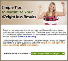 Simple Tips to Maximize your Weight loss Results