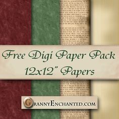 GRANNY ENCHANTED'S BLOG: Free Christmas Stamps Digi Scrapbook Kit with Papers, Alphabet, and Embelllishments