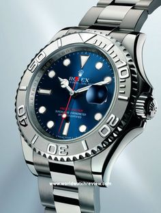 Rolex Oyster Perpetual Yacht-Master Blue Dial in Rolesium (Ref. 16622) self-winding wrist watch