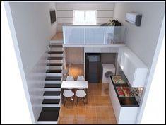 New Home Design Kitchen Loft Ideas Tiny Loft, Tiny House Loft, Best Tiny House, Modern Tiny House, Tiny House Living, Small House Design, Apartment Layout, Apartment Design, Loft Design