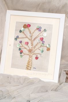 Hand Sewn 'Tree Of Love' Fabric Picture with by BumbleBeanUK, £55.00