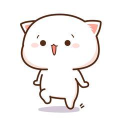 The perfect Cat Love Animated GIF for your conversation. Cute Anime Cat, Cute Cat Gif, Anime Kawaii, Cute Cats, Cute Bear Drawings, Cute Cartoon Drawings, Kawaii Drawings, Cute Cartoon Images, Cute Love Cartoons