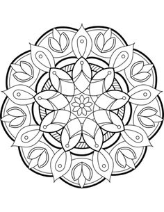 Enter a world of unique mandala you can color however you want. With mandala online coloring experience kids expanding their skills and art. Free Adult Coloring Pages, Flower Coloring Pages, Mandala Coloring Pages, Free Printable Coloring Pages, Coloring Book Pages, Coloring Sheets, Free Printables, Mandala Art Lesson, Mandala Drawing