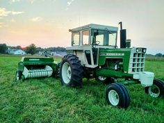 Oliver 1755 with small square baler