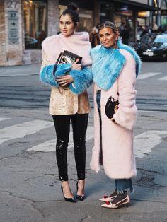 OSLO RUNWAY: Darja Barannik og Janka Polliani Foto: Malin Gaden