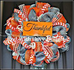 Fall Wreath Spring Wreath Wreath by RedWithEnvyDesigns on Etsy, $100.00