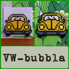 VW car hama beads by pysselraven