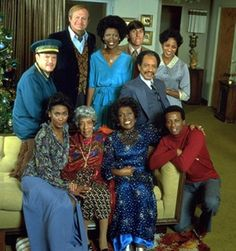 This long-running sitcom focused on an upwardly mobile African-American couple, George and Louise Jefferson, who had moved on up to the East Side. Description from lazyspleen.blogspot.com. I searched for this on bing.com/images