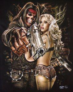 Skeleton Sexy Girl Handgun