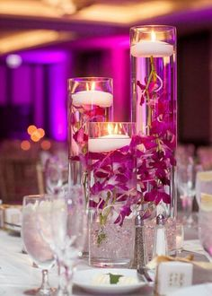 Ceremony flowers converted to centerpieces
