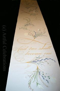 Wedding Aisle Runner Hand Painted Personalized Custom Design - DEPOSIT for any length and design
