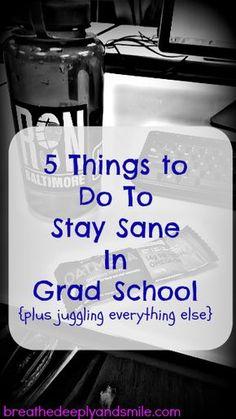 5 Things to Do To Stay Sane In Grad School {plus juggling everything else} Np School, Middle School, High School, Gre Prep, School Hacks, School Tips, School Goals, School Stuff, School Ideas