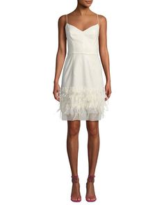 5852d7480c Hannah Embroidered Sequin   Feather Dress by Milly at Neiman Marcus