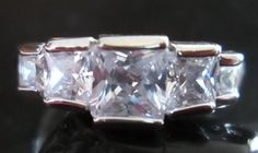 White Sapphire 1.85 Total Carats 10 kt White Gold Filled Ring Size 9.5 #Unbranded #Cocktail
