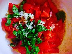 Italian tomato sauce with a twist. Basil, tomato, garlic. Red, green, tasty. Check recipe on our blog. Italian Tomato Sauce, Original Recipe, Bruschetta, Red Green, Basil, Salsa, Garlic, Ethnic Recipes, Check